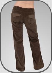 Dámské manšestrové khaki kalhoty 107  a6963c0e2b