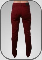 Dámské bordové kalhoty 216 dl. 36