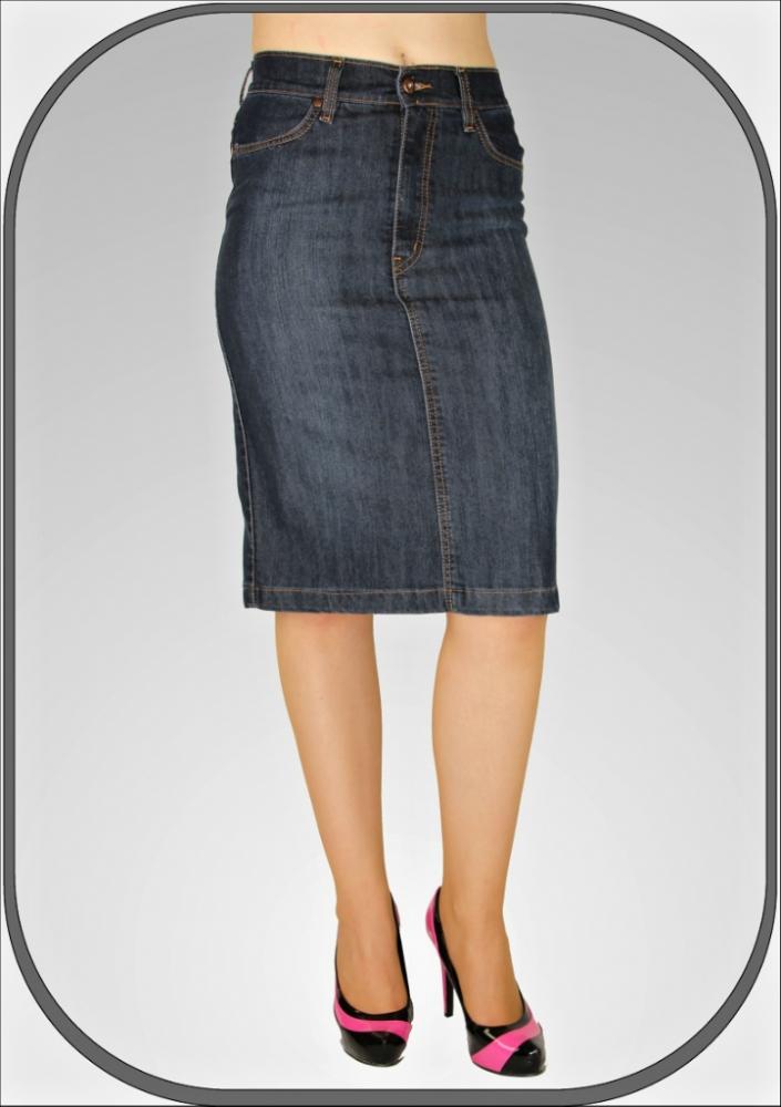 805e9f3acb1 Riflová sukně pod kolena 035 41