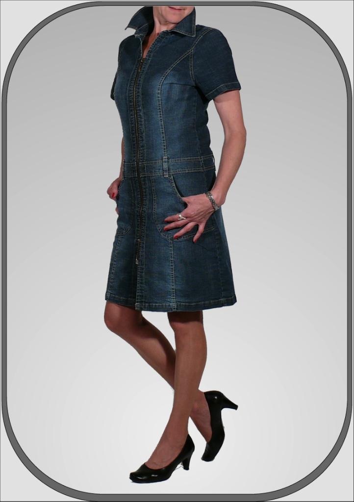Dámské džínové šaty se zipem 139  a990a28970