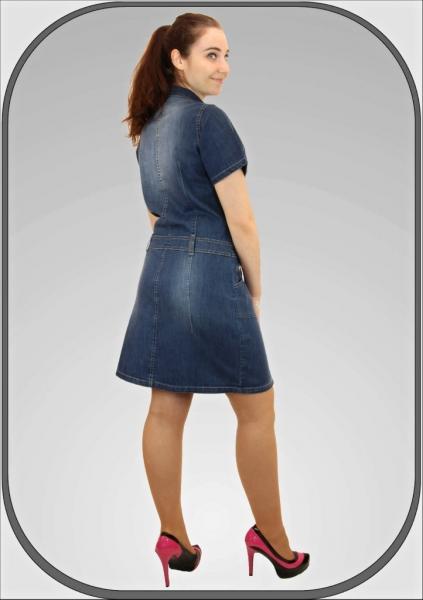 Dámské džínové šaty se zipem 139  6c0137e792e