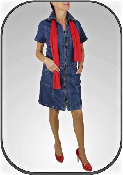 Dámské riflové šaty se zipem 1340 a388c55be80