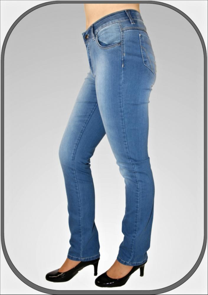 Dámské vysoké světle modré jeansy 216 5 dl. 32