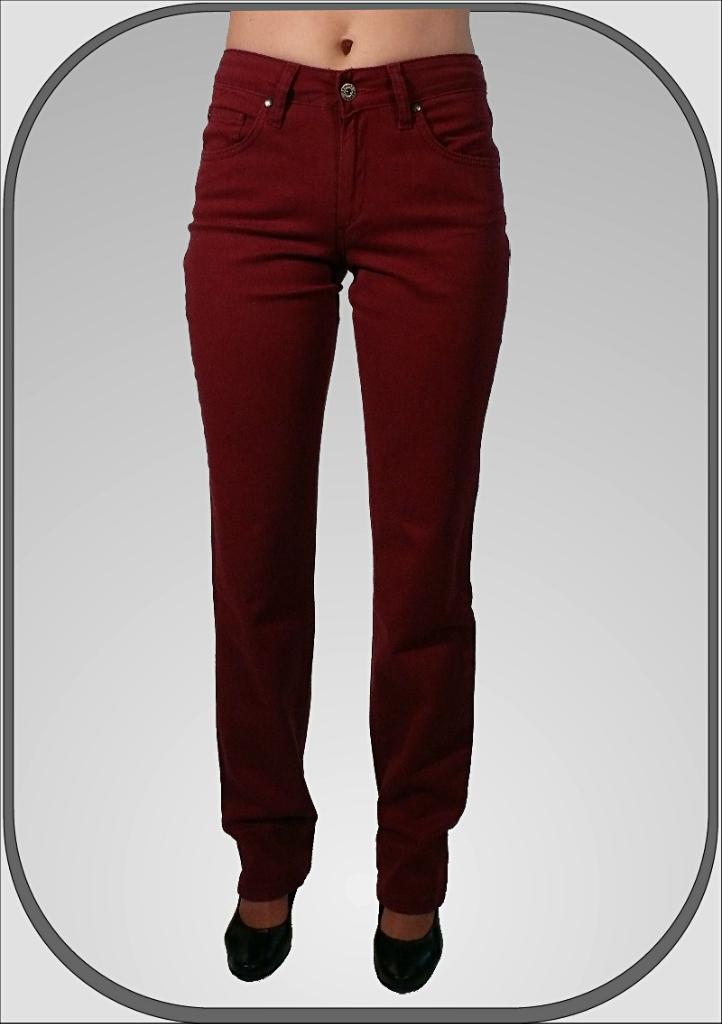 Dámské bordové kalhoty 216 dl. 32