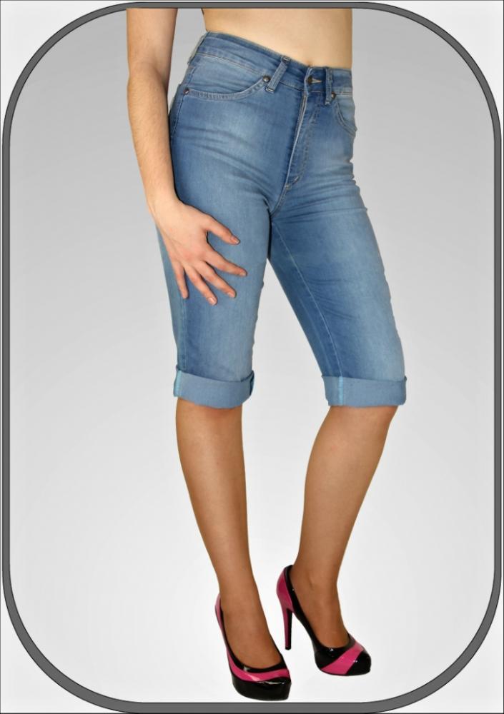 Dámské jeansové capri kalhoty 307 635 8784c01dd69