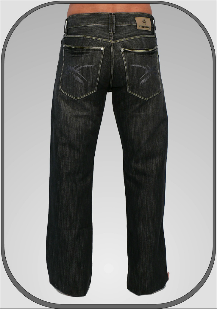 da38b1772ef Pánské černé džíny s rozšířenými nohavicemi 373 56 34