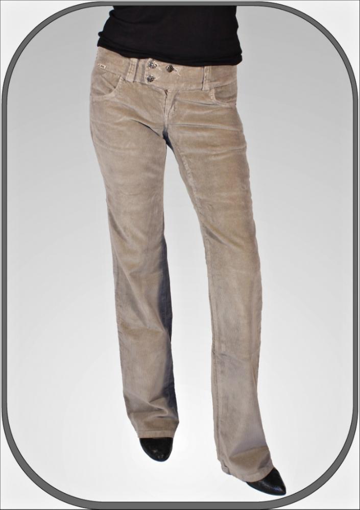 Dámské manšestrové kalhoty 5209bež c5bc990c42
