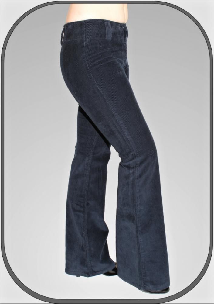 Dámské modré manšestrové kalhoty 5209-5 2fb78c68cd