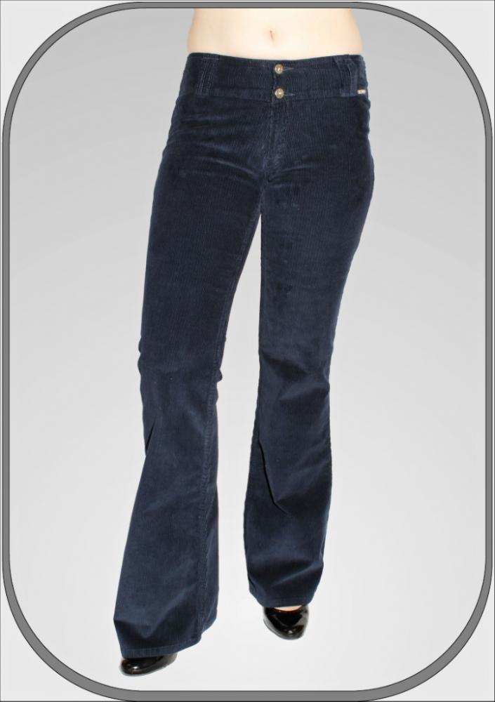 Dámské modré manšestrové kalhoty 5209 -6 a9062a7828