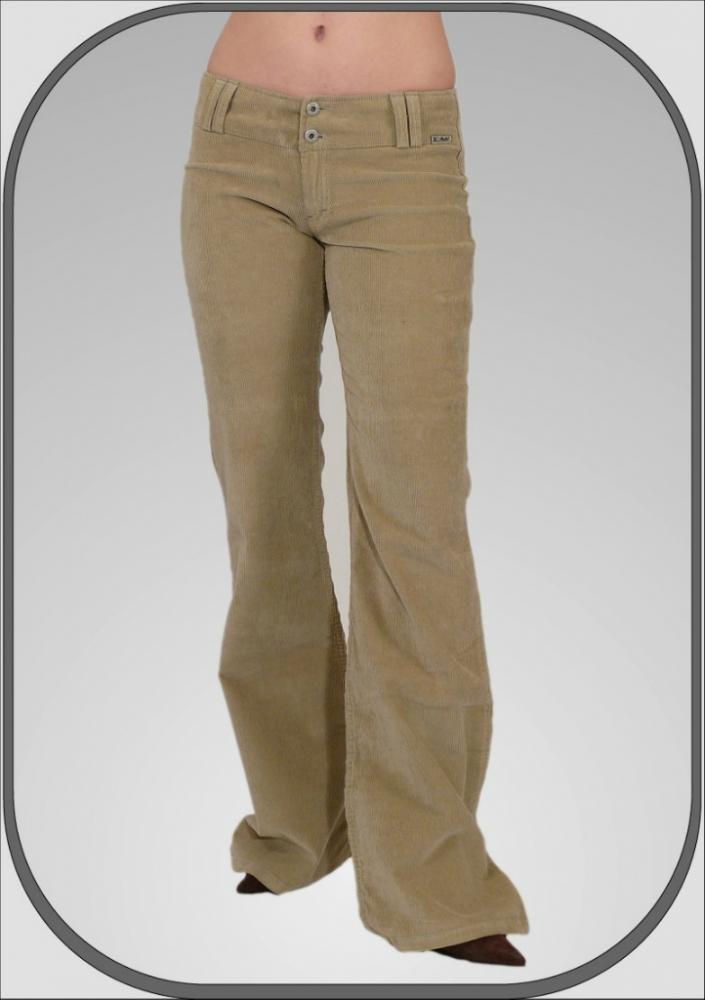 Dámské manšestrové kalhoty béžové 5209 6782ca1d98