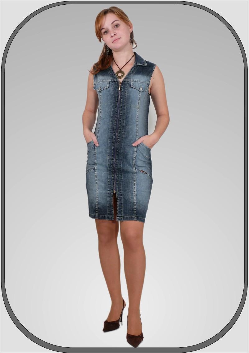 Dámské jeansové šaty bez rukávů dec6c6f1f87