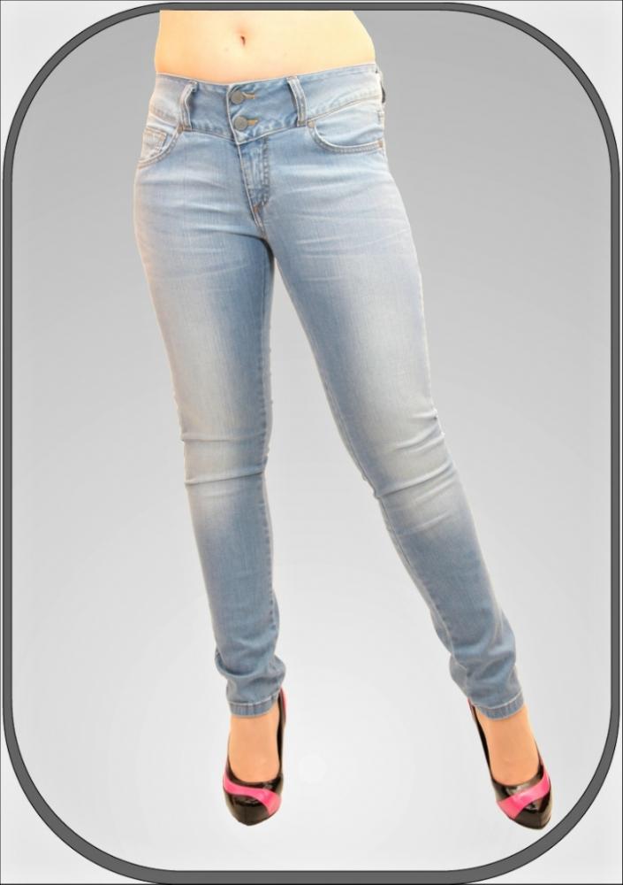 Dámské světé prodloužené jeansy 226 2 dl. 34