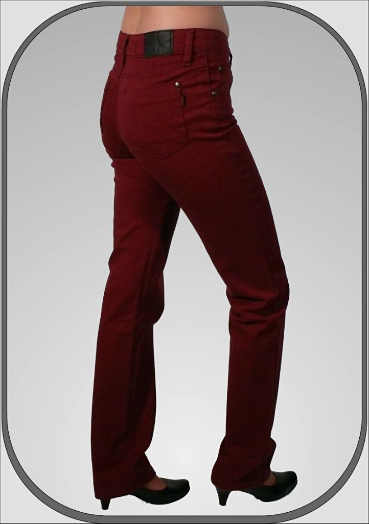 e607a166a00 Dámské bordové kalhoty 216 dl. 32